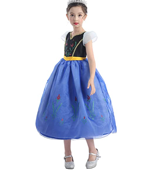 Amazon.com: Dressy Daisy Niñas Princesa Anna Dress Up ...