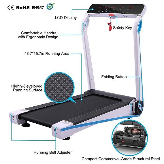 cooshional Fitness Arrugas eléctrica profesional cinta de correr ...