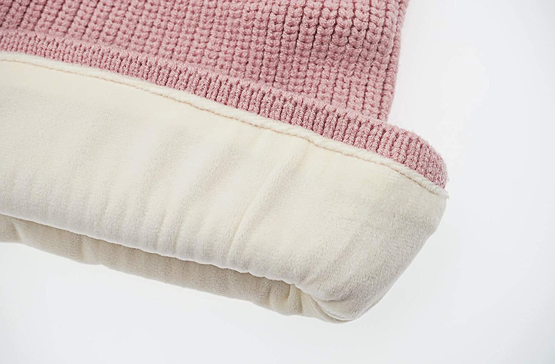 FEOYA Beanie Scarf 2 in 1 Baby Girl Boy Hat Knit Baby Winter Fleece Hood Baby Cache Neck Ear Balaclava 2-5 Years Baby