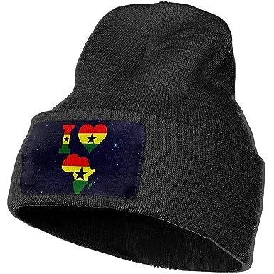 Edith Daisy Hombres/Mujeres Tienda Ghana Bandera Gorros de Punto ...