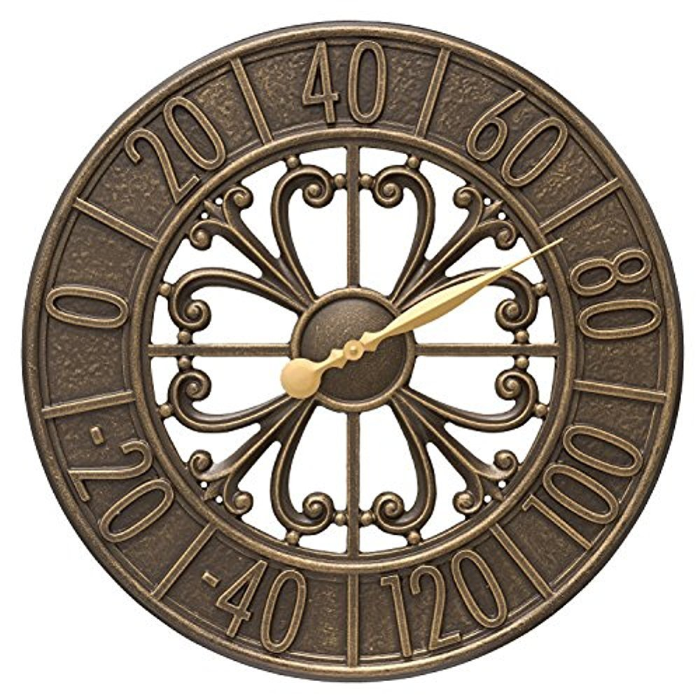 Villanova 21-in Indoor Outdoor Wall Thermometer - 00806 by Whitehall (Image #1)