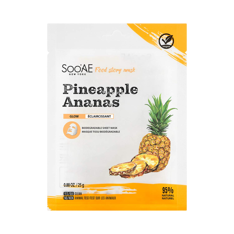 SOO'AE FOOD STORY MASK - PINEAPPLE 1EA