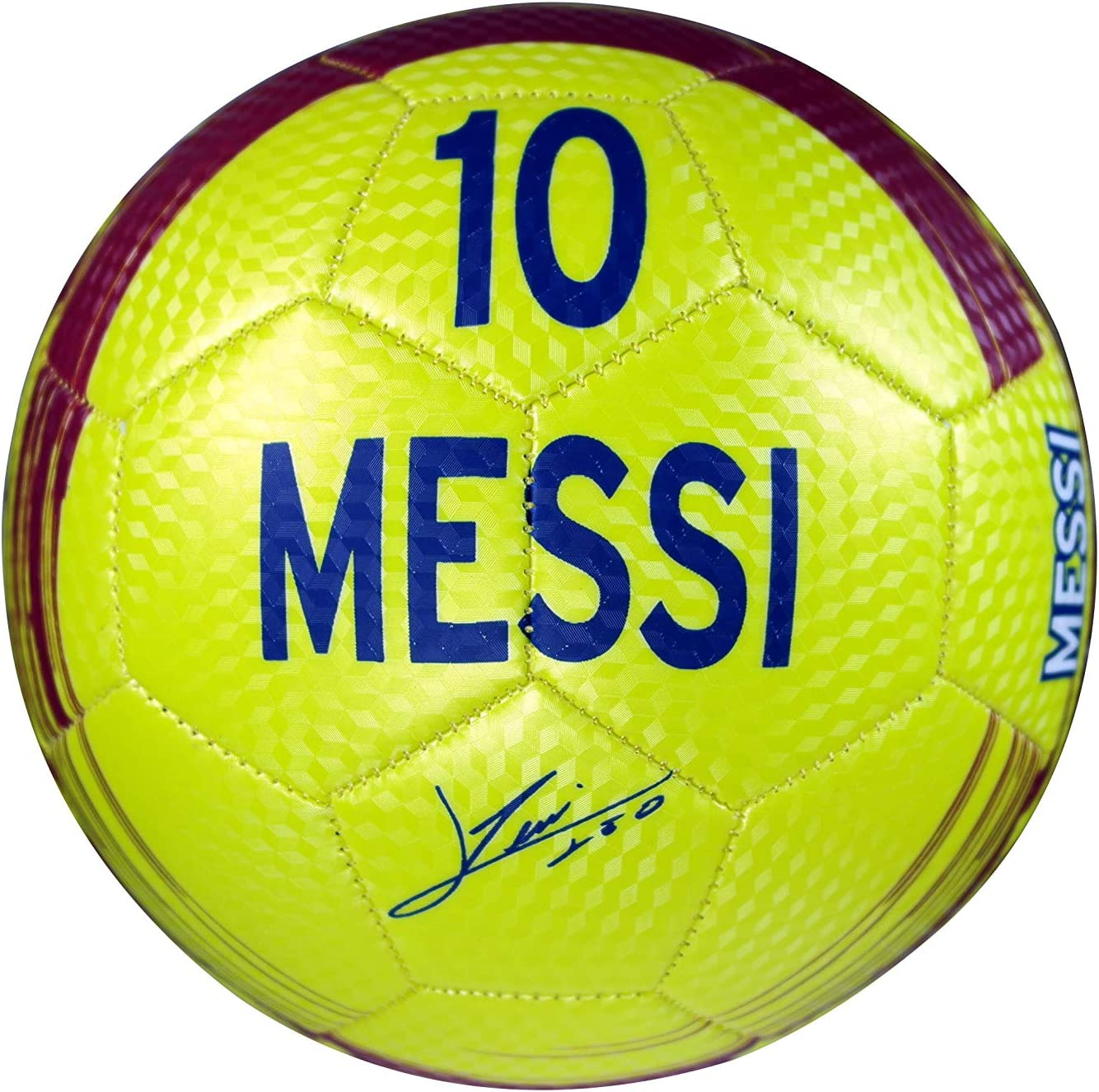 FC Barcelona Authentic Official Messi 10 Licensed Signature Soccer Ball Size 3 01 2
