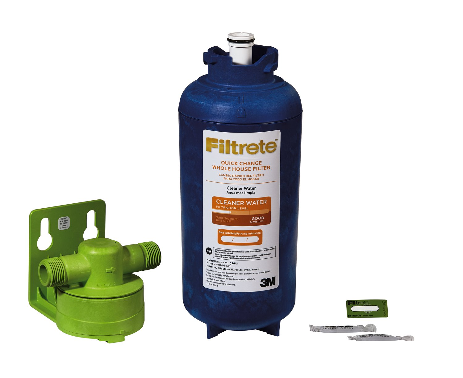 Filtrete 4wh qs s01 whole house water filter system ebay for Water feature filtration system