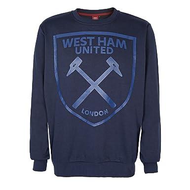finest selection d4729 69d86 West Ham United FC Official Football Gift Mens Crest Sweatshirt Top