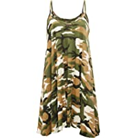 Rimi Hanger Womens Strappy Flared Swing Cami Dress Ladies Sleeveless Skater Mini Dress Vest