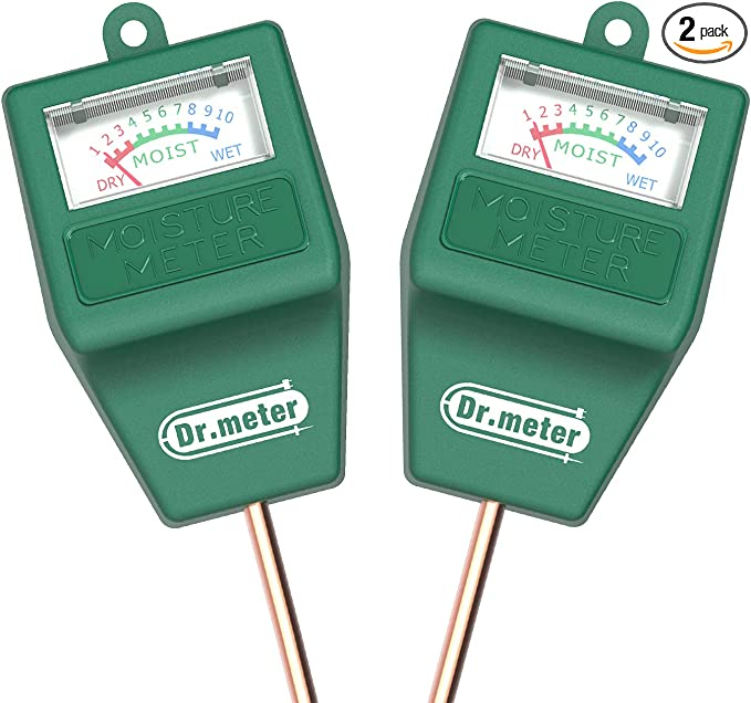 Soil Moisture Meter,Digital Soil Temperature Moisture Meter Tester,River Sand Soil Hygrometer Temperature Humidity Tester with Probe Stainless Steel Needle
