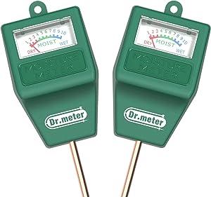 [2pack Soil Moisture Meter ] Dr.meter Hygrometer Moisture Sensor Meter for Garden, Farm, Lawn Plants Indoor & Outdoor(No Battery needed)