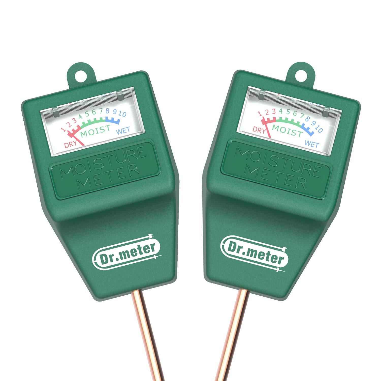 Soil Moisture Meter-2 Packs Soil Test Kit for Garden Lawn Farm Indoor & Outdoor Use-Dr.meter Moisture Meter for Plants-Soil Tester Hygrometer Sensor for Plant Care-Plant Water Meter-No Battery Needed