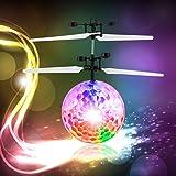 Palla Volante Giocattolo, FPVRC Induzione ad Infrarossi Palla Volante Elicottero RC con Musica Illuminazione a LED Shinning per Bambini