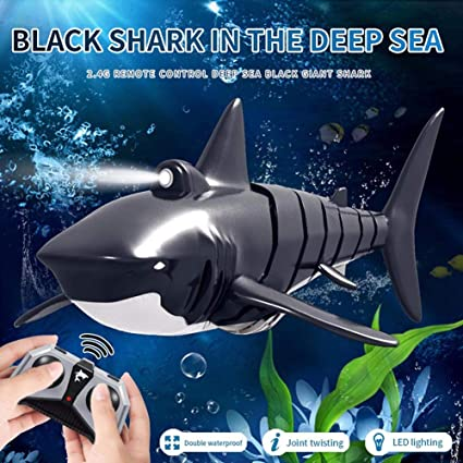 Amazon Com Djg Remote Control Shark 2 4g Led Electric Simulation Rc Fish 20 Minutes Rechargeable Battery Water Swimming Pool Children S Toy Sports Outdoors