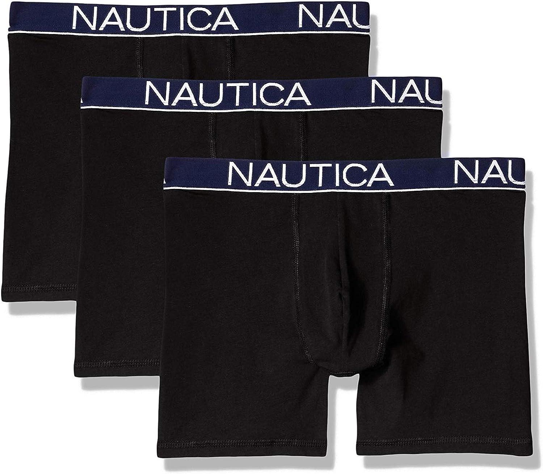 Nautica Men's 3 Pack Breathable Stretch Cotton Boxer Brief Underwear