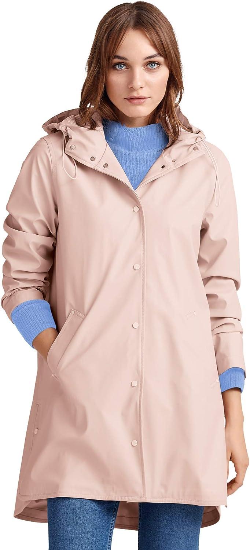 ellos Women's Plus Size Snap-Front Raincoat