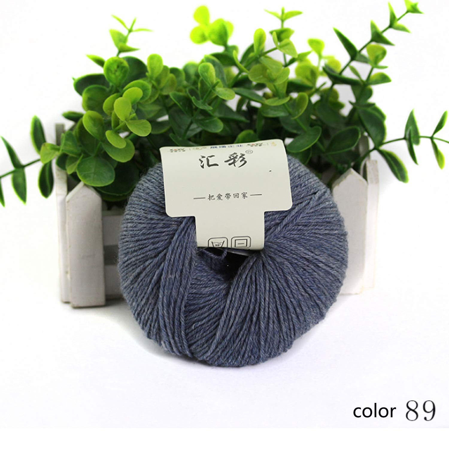 Col 89 10 balls Shuo lan hu wai Yarn knitting yarn wool yarn autumn winter hand series scarf line soft baby sweater line 1 ball about 50 g 4 15 NM 15 colors available (color   Col 89, UnitCount   10 balls)