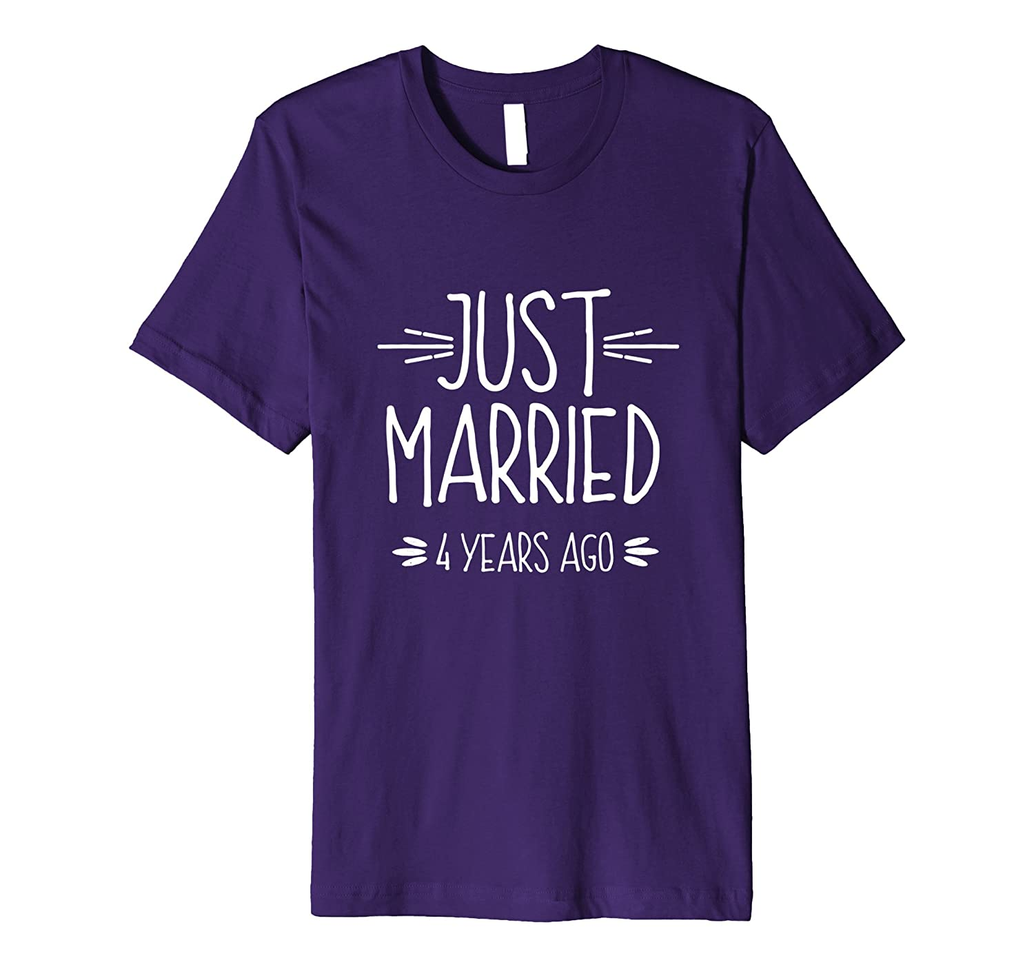Wedding Anniversary Gift Just Married 4 Years Ago T-Shirt-PL