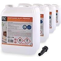 4 x 5 L bioéthanol à 96,6% dénaturé - FRAIS DE PORT OFFERT - qualité certifiée