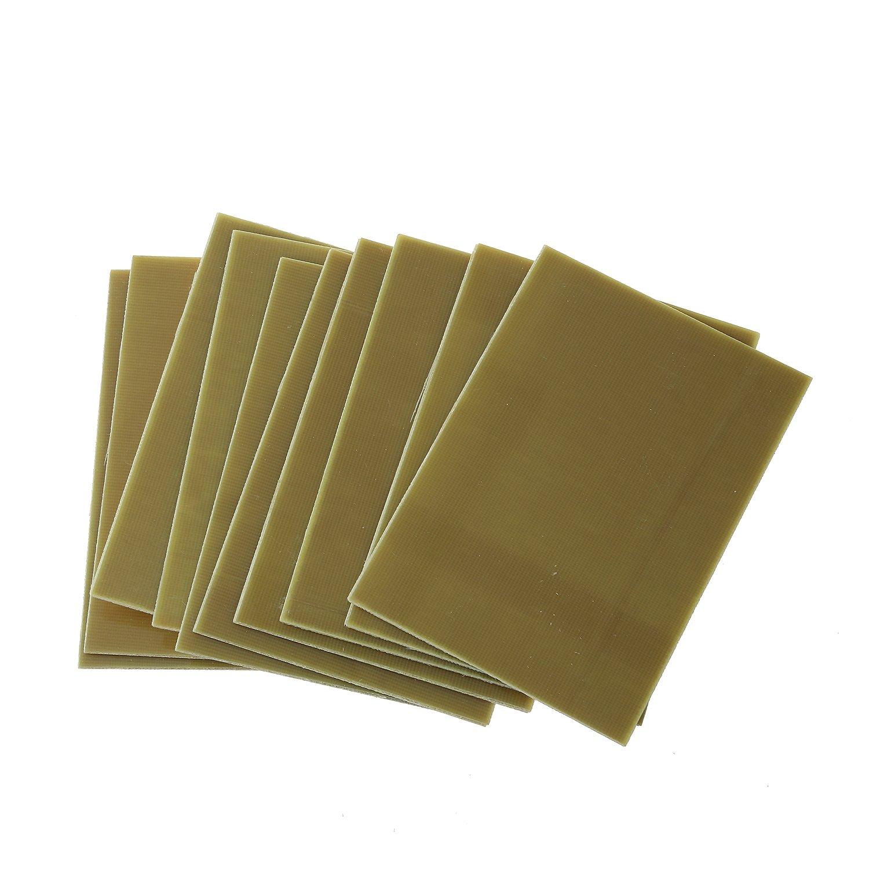 Cobre tablero - SODIAL(R)10Pzs FR4Tablero laminado de circuito impreso Revestido de cobre de una sola cara PCB fibra: Amazon.es: Bricolaje y herramientas
