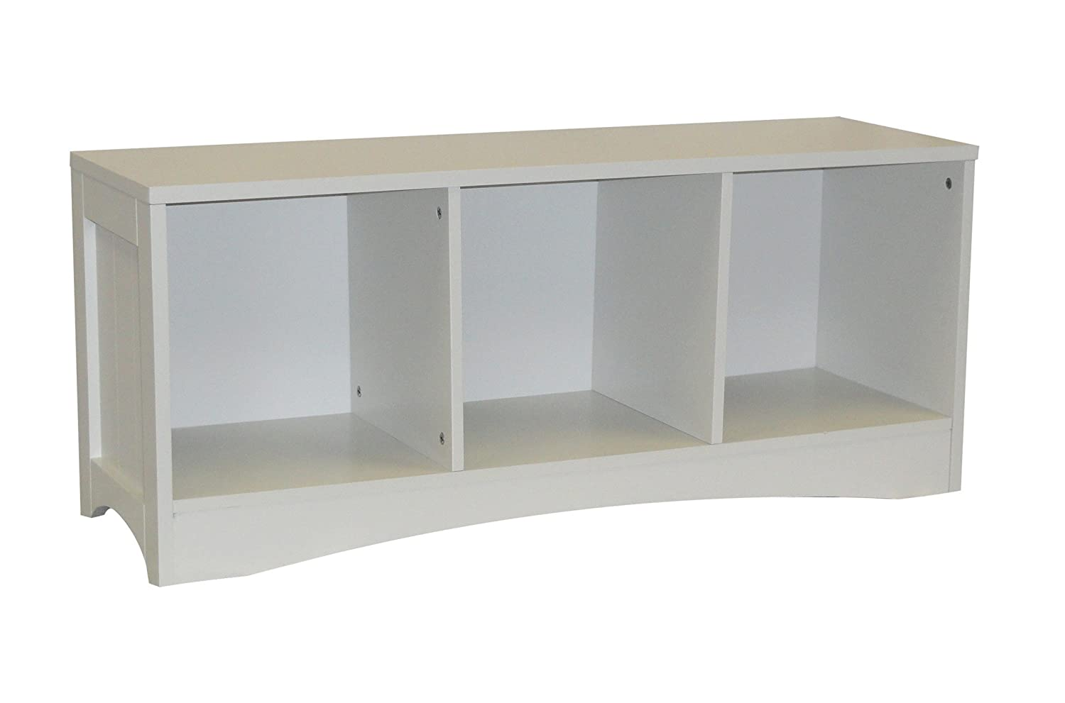 Riverridge Kids Bench With 3 Storage Cubbies In White Finish 02 023 New Ebay