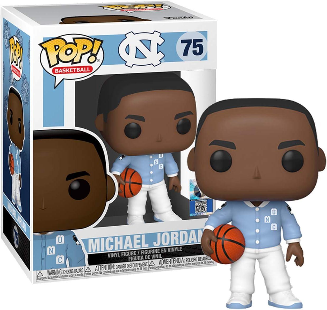 Funko 46803 Pop Basketball Unc Michael Jordan Warm Ups Collectible Toy Multicolour Amazon Co Uk Toys Games