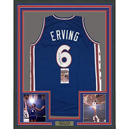 254c252db0f Image Unavailable. Image not available for. Color: Julius Erving Signed  Jersey ...
