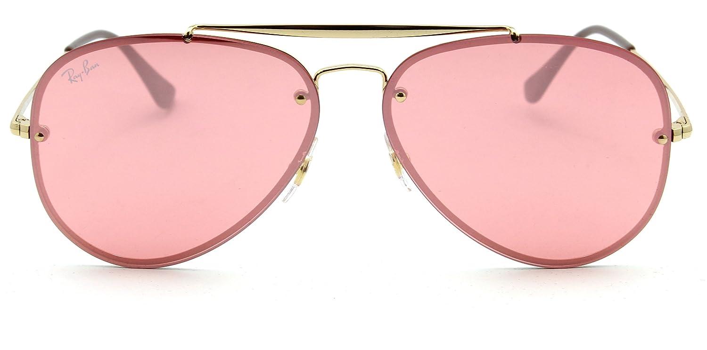 Amazon.com  Ray-Ban RB3584N Blaze Aviator Unisex Sunglasses Pink 9052E4-61mm   Clothing 5a0f9af48aa7