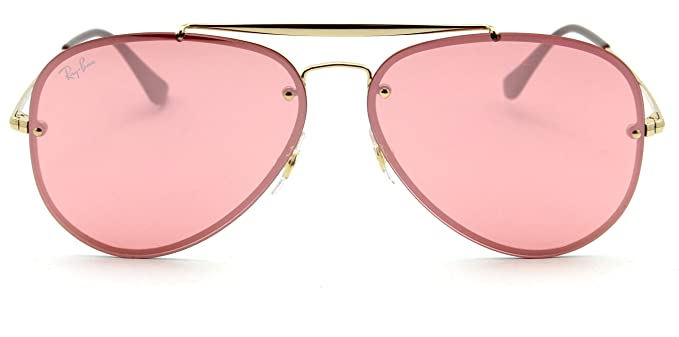 ced140b323 Image Unavailable. Image not available for. Color  Ray-Ban RB3584N Blaze  Aviator Unisex Sunglasses Pink 9052E4-61mm