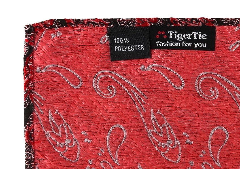 TigerTie Designer Einstecktuch gemustert in Paisley Gr/ö/ße 30 x 30 cm