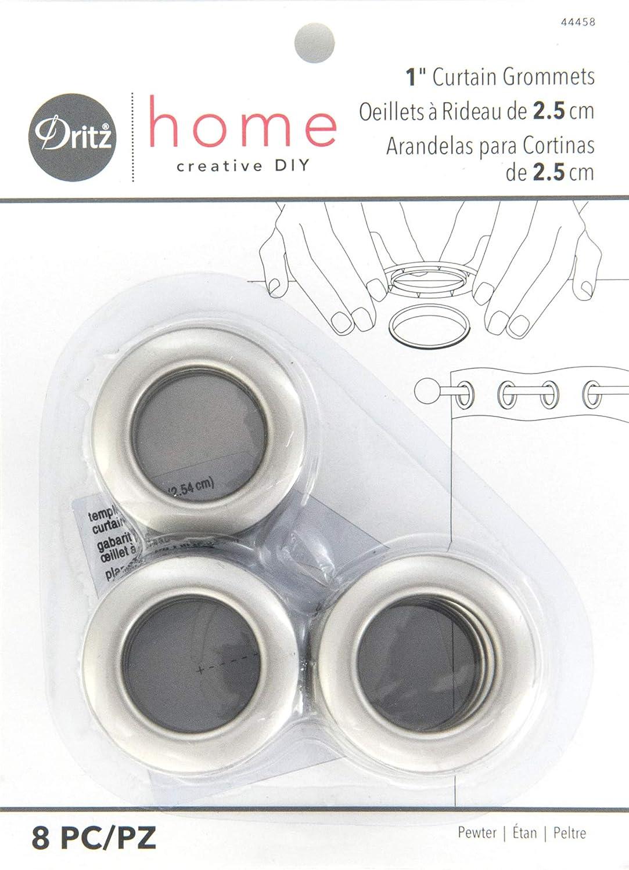 Dritz 1 Diámetro Interior de plástico Cortina Ojales, 8 Unidades, Peltre: Amazon.es: Hogar