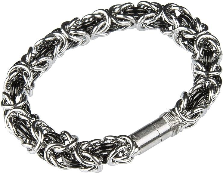Ernstes Design Edvita Armreif A84 Edelstahl Königsarmband Armband Gelbgold besch