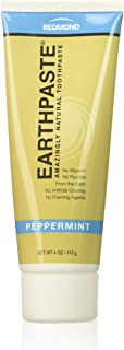 product image for Redmond Earthpaste - Natural Non-Fluoride Toothpaste, 4 Ounce Tube (3 Pack, Peppermint)