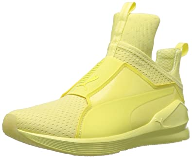 PUMA Women s Fierce Bright Mesh Cross-Trainer Shoe Elfin Yellow 6 ... 6ba69930e