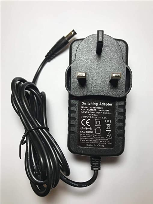 15V 1500MA AC//DC POWER SUPPLY 15 VOLT 1.5 AMP 1.5A 1500 MA WALL ADAPTER 240V