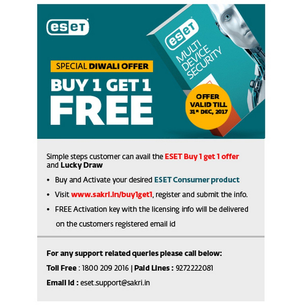 Eset Multi Device Smart Security Device Year CD Get Buy - Deepavali special at the green furniture offers valid while stocks