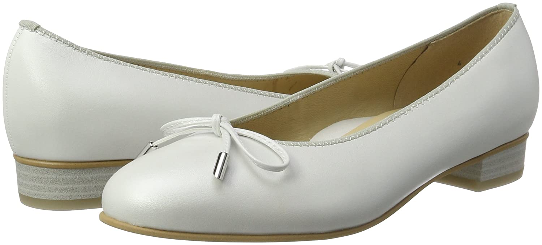 Ara Bari, 42 Damen Geschlossene Glattleder Ballerinas, Weiß (OffWeiß), 42 Bari, EU 1c8572