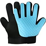 Maximum Discount EVER Pet Grooming Glove Cat Dog Hair Removal Mitt Collect Extra Fur Stray Hairs Multi-Function for Small Big Medium Dogs Cats Horses Rabbits, Soft Massage Bath Shedding Brush Tool