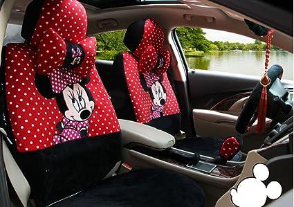 18pcs Maimai88 Red And White Dots Classic Cartoon Universal Car Seat