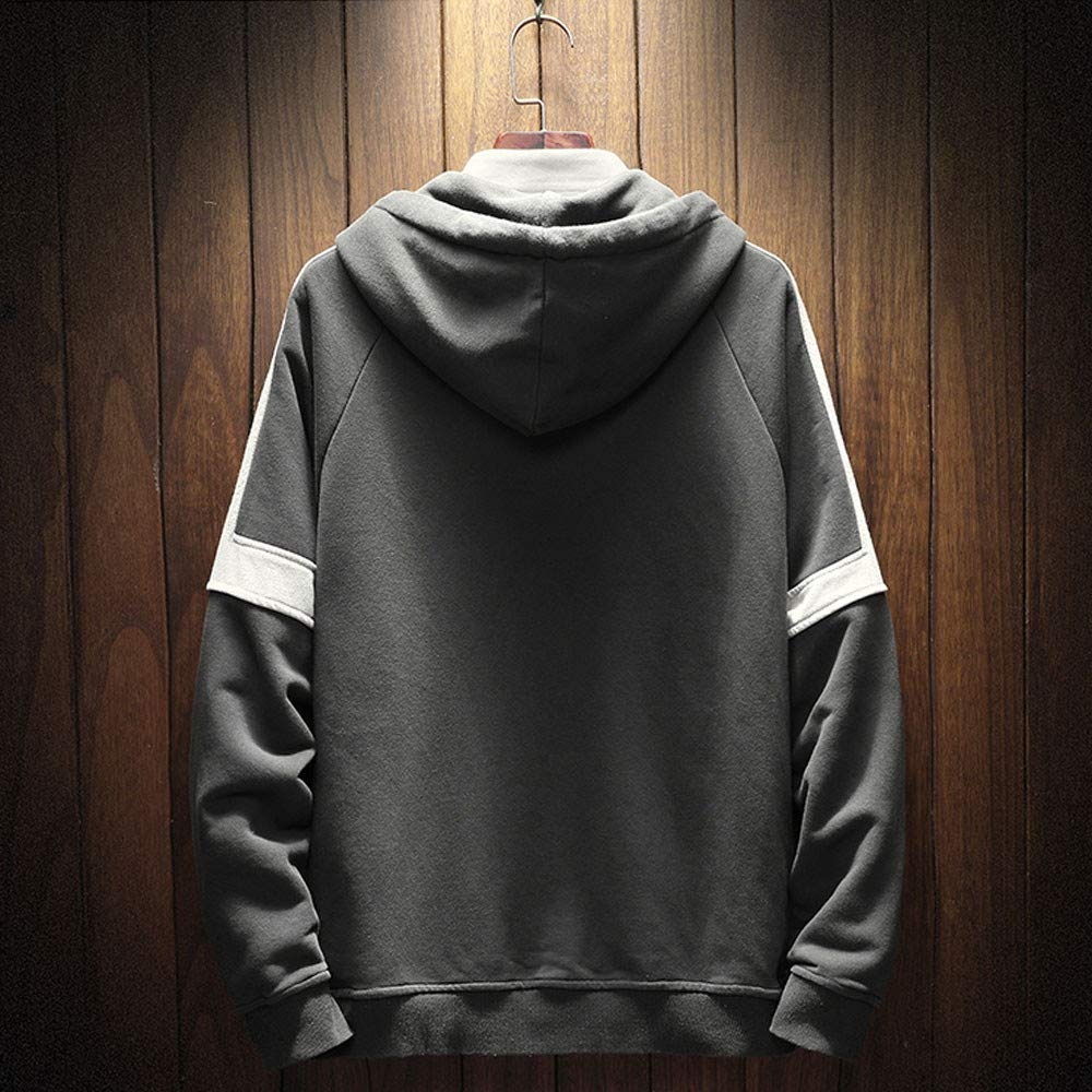 Baomabao Mens Autumn Winter Long Sleeved Hooded Sweater Tops Blouse