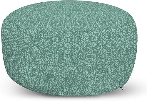 Ambesonne Green Ottoman Pouf