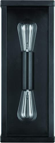Amazon Brand Rivet Double-Light Outdoor Wall Sconce