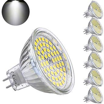 GU5.3 MR16 Bombilla LED 12V 5W Blanco Frio Equivalente a Halogeno 35W Spot Luz