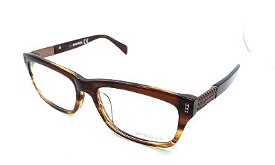 f44523f6386b40 Amazon.com  Diesel Rx Eyeglasses Frames DL4105 050 57-18-145 Brown ...