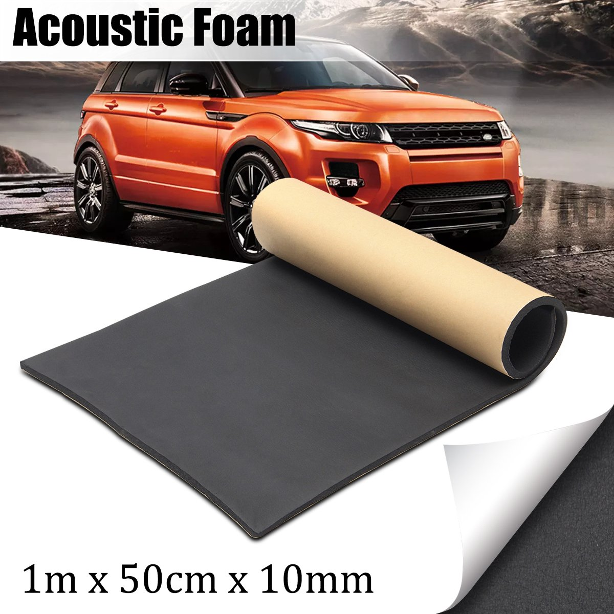 Jeteven 1m x 50cm High Density Foam Rubber Padding Roll Self Closed Cell Foam Waterproof Soundproof Insulation Thermal Foam Car Sound Deadening Mat 1m by Jeteven (Image #2)