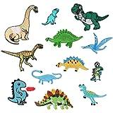 Parche de dinosaurio para ropa, planchar o coser, 12 unidades, diseño de parches bordados