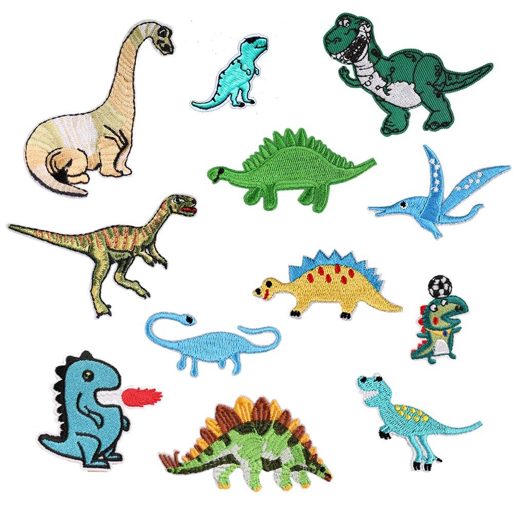 Parche de dinosaurio para ropa, planchar o coser, 12 unidades ...