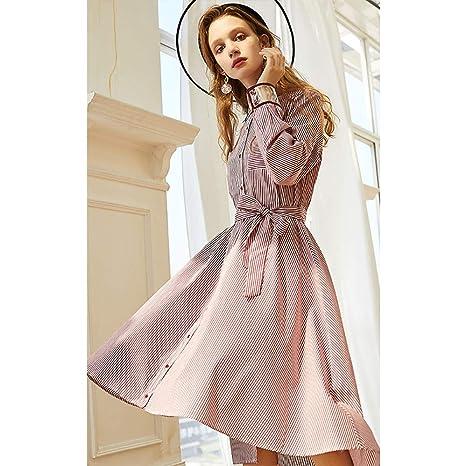 Vestido de Primavera para Mujer - Falda de Cintura de Corbata con ...