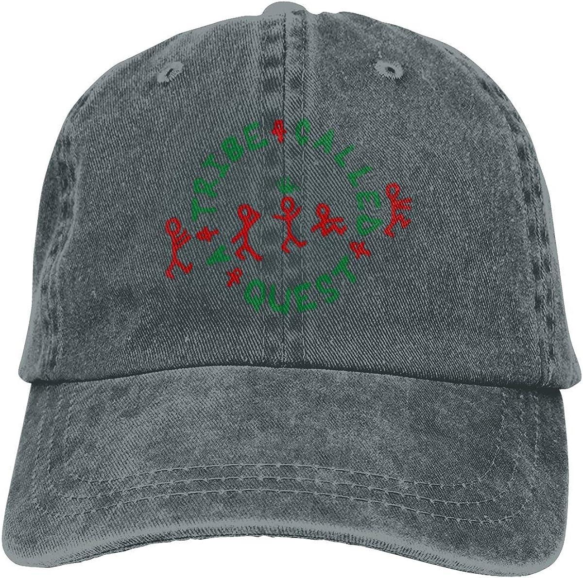 Tribe Called Quest Logo Sports Denim Cap Adjustable Snapback Casquettes Unisex Plain Baseball Cowboy Hat Black