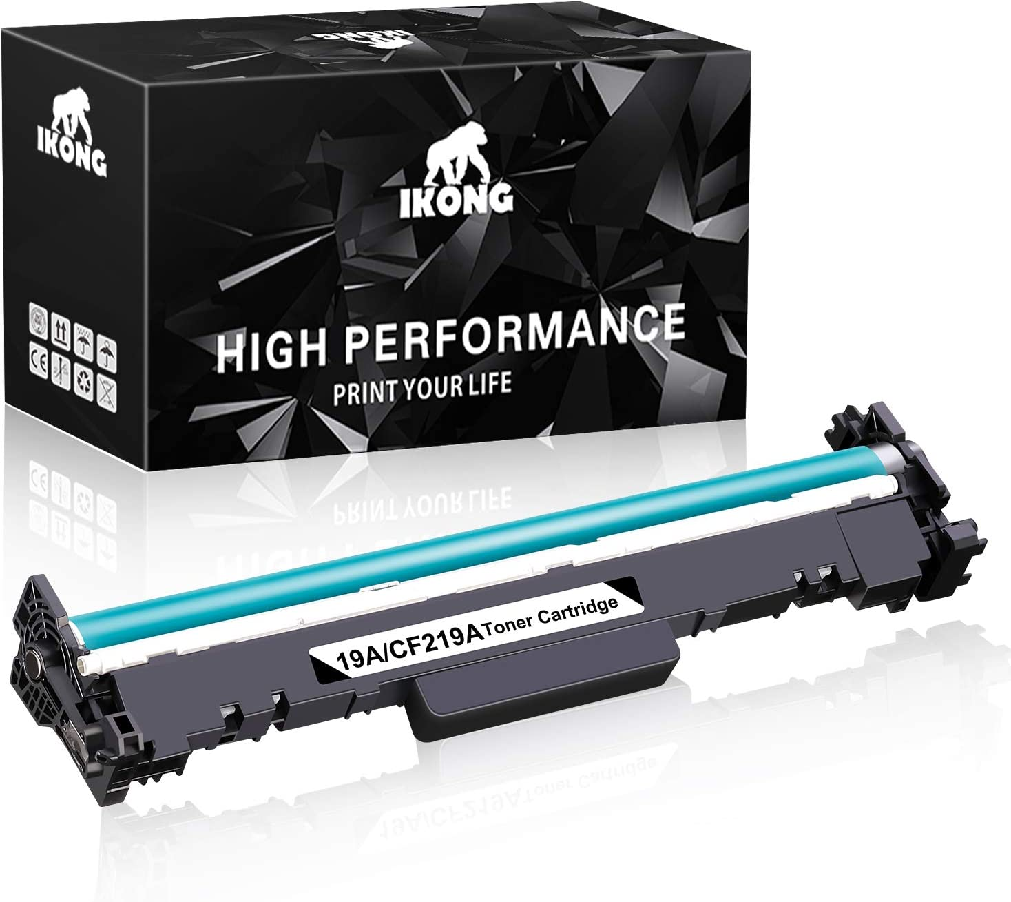 IKONG Compatible Replacement for HP CF219A 19A Toner Cartridge Black Drum(fit in 17A CF217A Toner) use with Laserjet Pro M102w M130nw M130fw M130fn M102a M130a MFP M130 M102 Printer