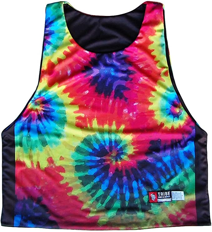 Tie Dy /& White Tie Dye and White Sublimated Reversible Sublimated Lacrosse Pinnie XXXX-Large
