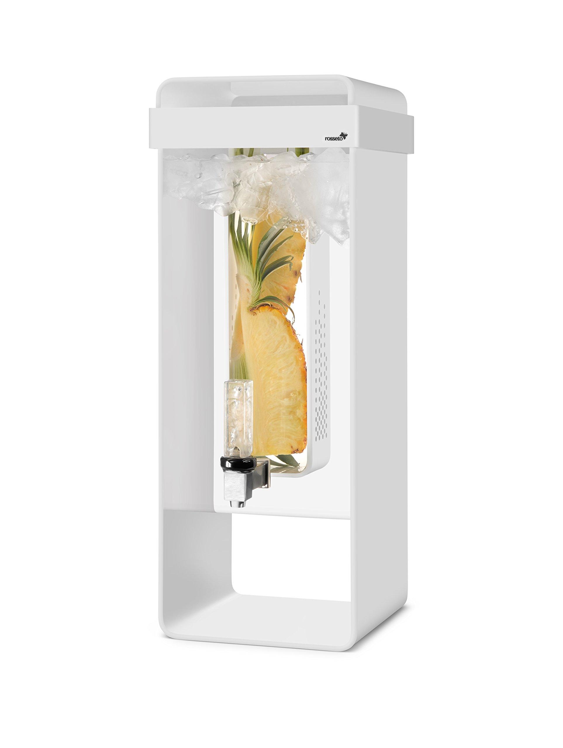 Rosseto LD150 Infusion Beverage Dispenser, 3 gal, White