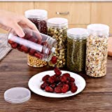 Sealing Food Preservation Cylindrical Plastic Fresh Pot Container, Pickled Vegetable Jars, Cylindrical Kitchen Storage Box fo